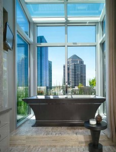 Divine soaking tub under the stars