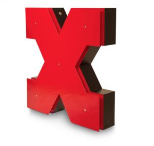 X Neon Floor Lamp for outdoor entertaining