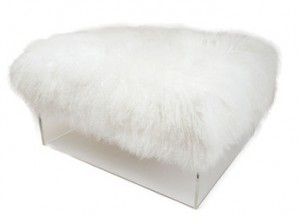 The Little Jake Ottoman with Tibetan Wool